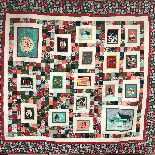 To Be Jolly Christmas Panel Quilt