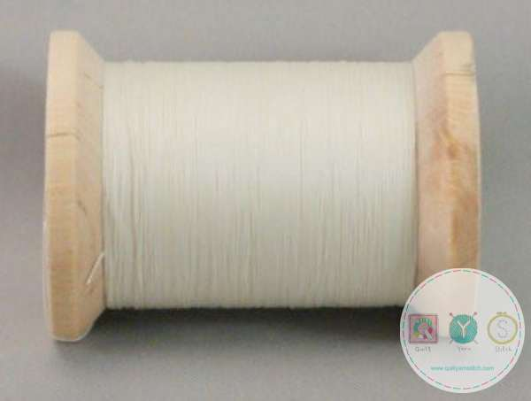 YLI Glazed Hand Quilting Cotton Thread - Natural 211-04-001 - Cream Thread - Waxed