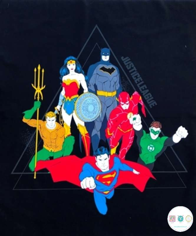 Justice League Activated - Superheroes - Cotton Fabric Panel - DC Comics - by Camelot - Patchwork & Quilting