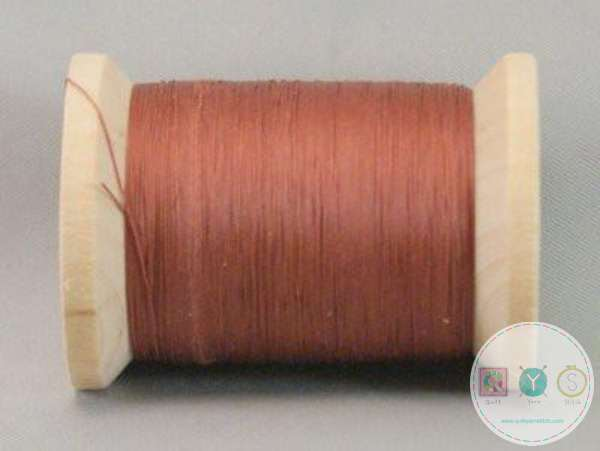 YLI Hand Quilting Glazed Cotton Thread - Rust 211-04-004 - Waxed