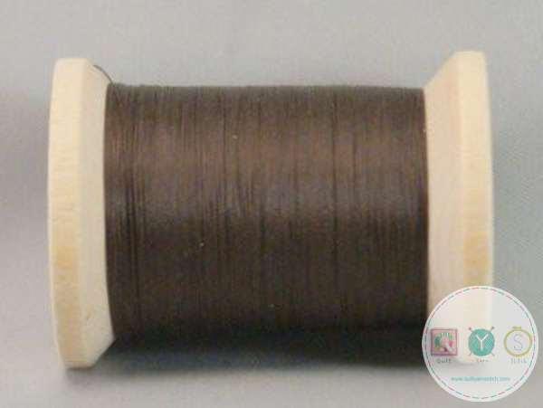 YLI Hand Quilting Glazed Cotton Thread - Brown 211-04-005 - Dark Brown - Waxed