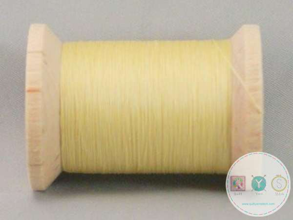 YLI Hand Quilting Glazed Cotton Thread - Yellow 211-04-006 - Waxed