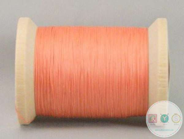 YLI Hand Quilting Glazed Cotton Thread - Coral 211-04-019 - Pink Orange - Waxed