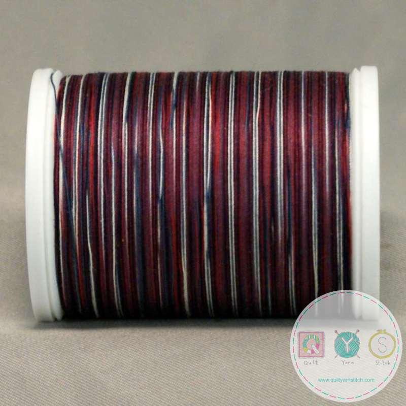 YLI Machine Quilting Cotton Thread - Red White Blue 244-50-01V - Variegated