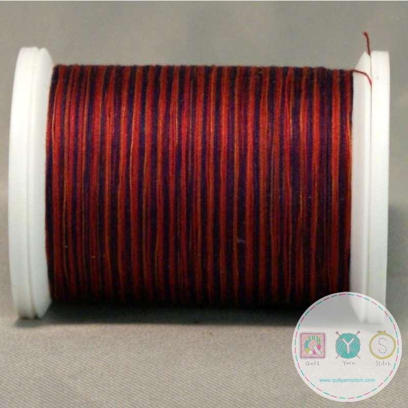 YLI Machine Quilting Cotton Thread - Madras 244-50-03V - Variegated Deep Red Thread