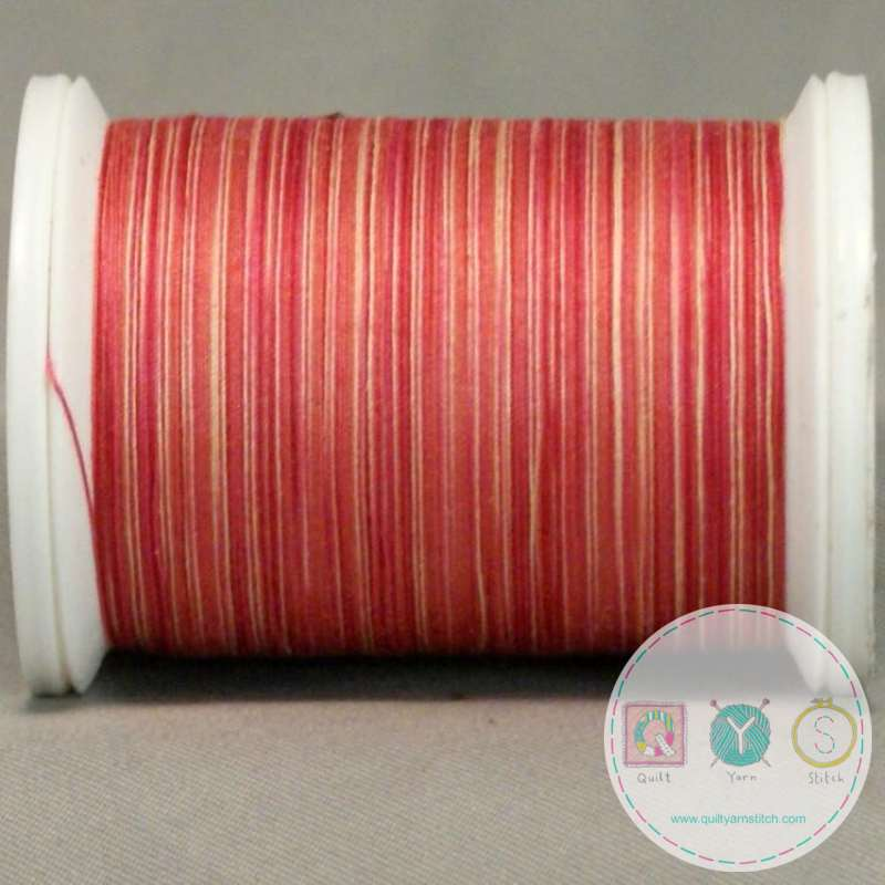YLI Machine Quilting cotton Thread - Mango 244-50-04V - Variegated Coral Pink Thread