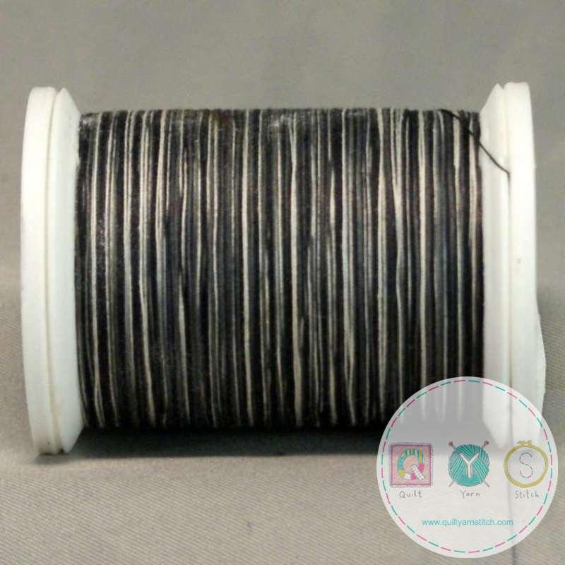 YLI Machine Quilting Cotton Thread - White to Black Thread 244-50-05V - Variegated Monochrome