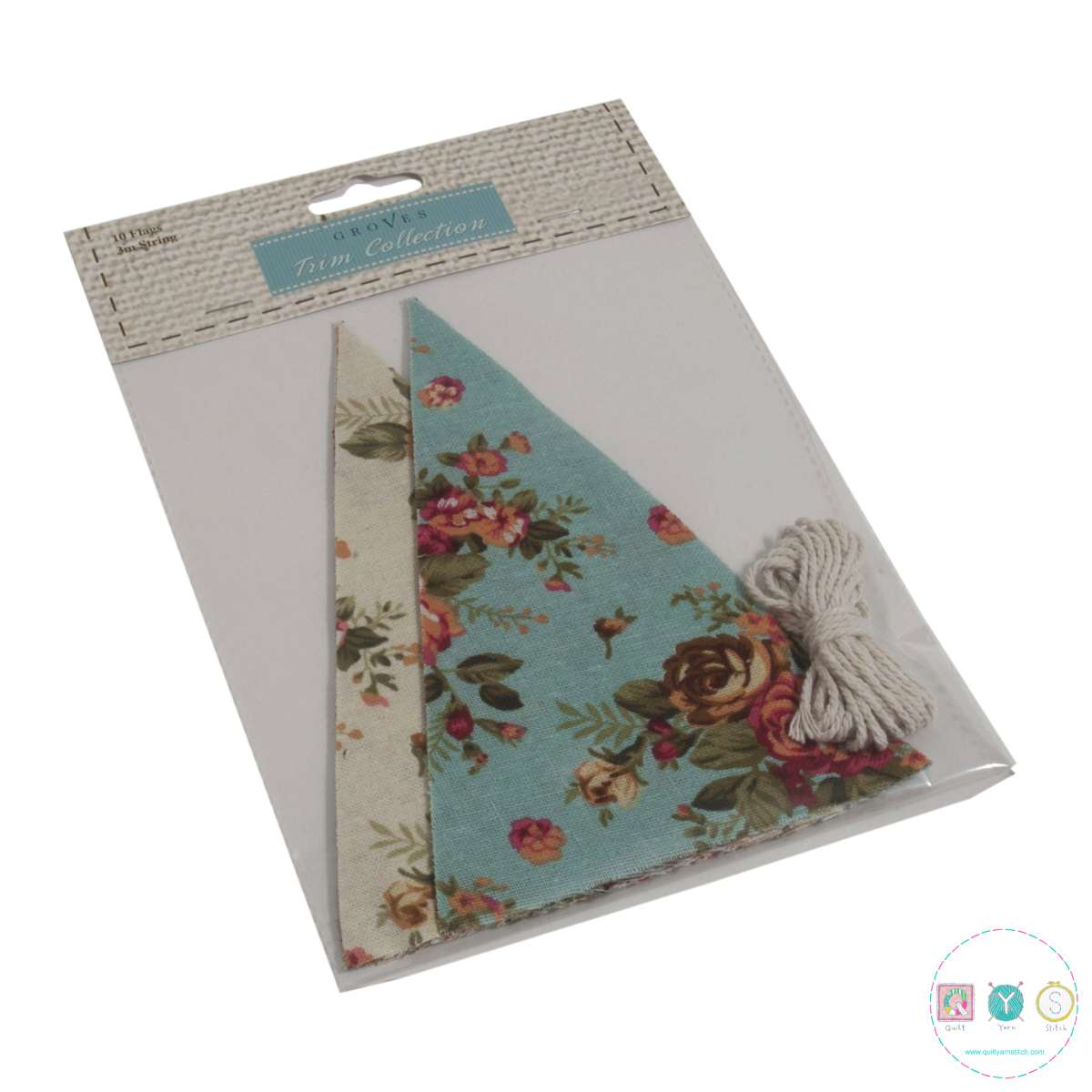 Sew Your Own Bunting - Easy Sew Kit - Blue & Cream Floral - Gift Ideas