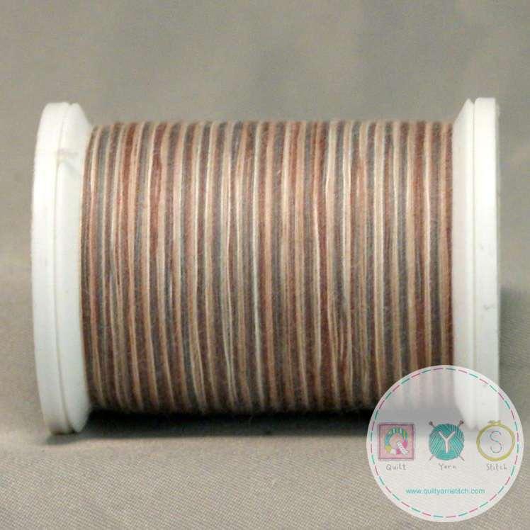 YLI Machine Quilting Cotton Thread - Sticks & Stones 06V - Variegated Brown and Cream Thread