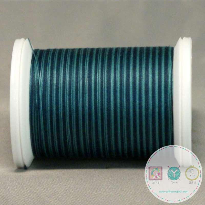 YLI Machine Quilting Cotton Thread - Teals 244-50-07V - Variegated Teal Blue Thread
