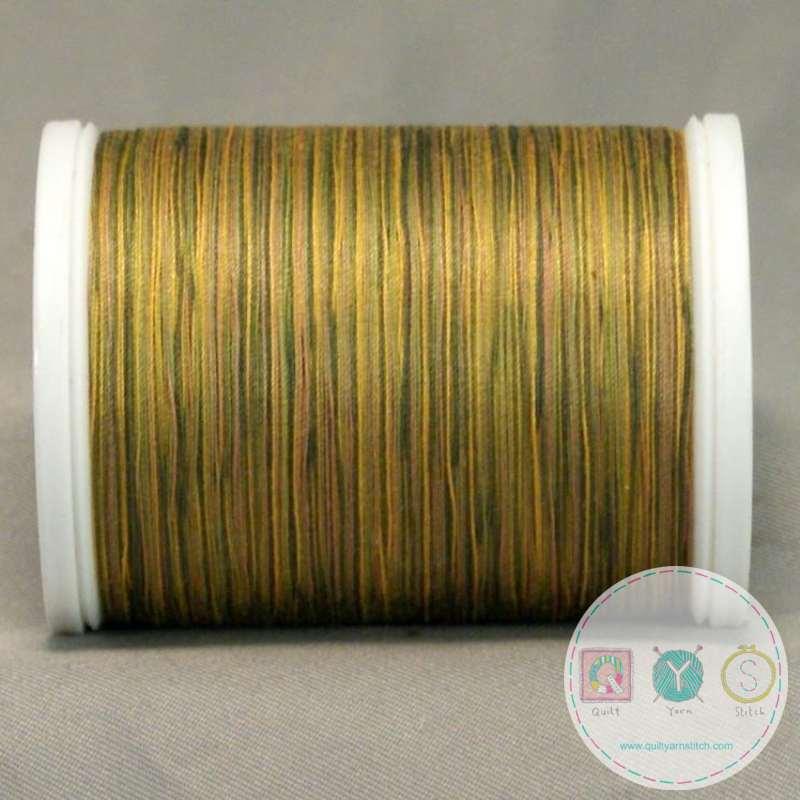 YLI Machine Quilting Cotton Thread - Green to Tan 244-50-08V - Variegated Green Gold Thread