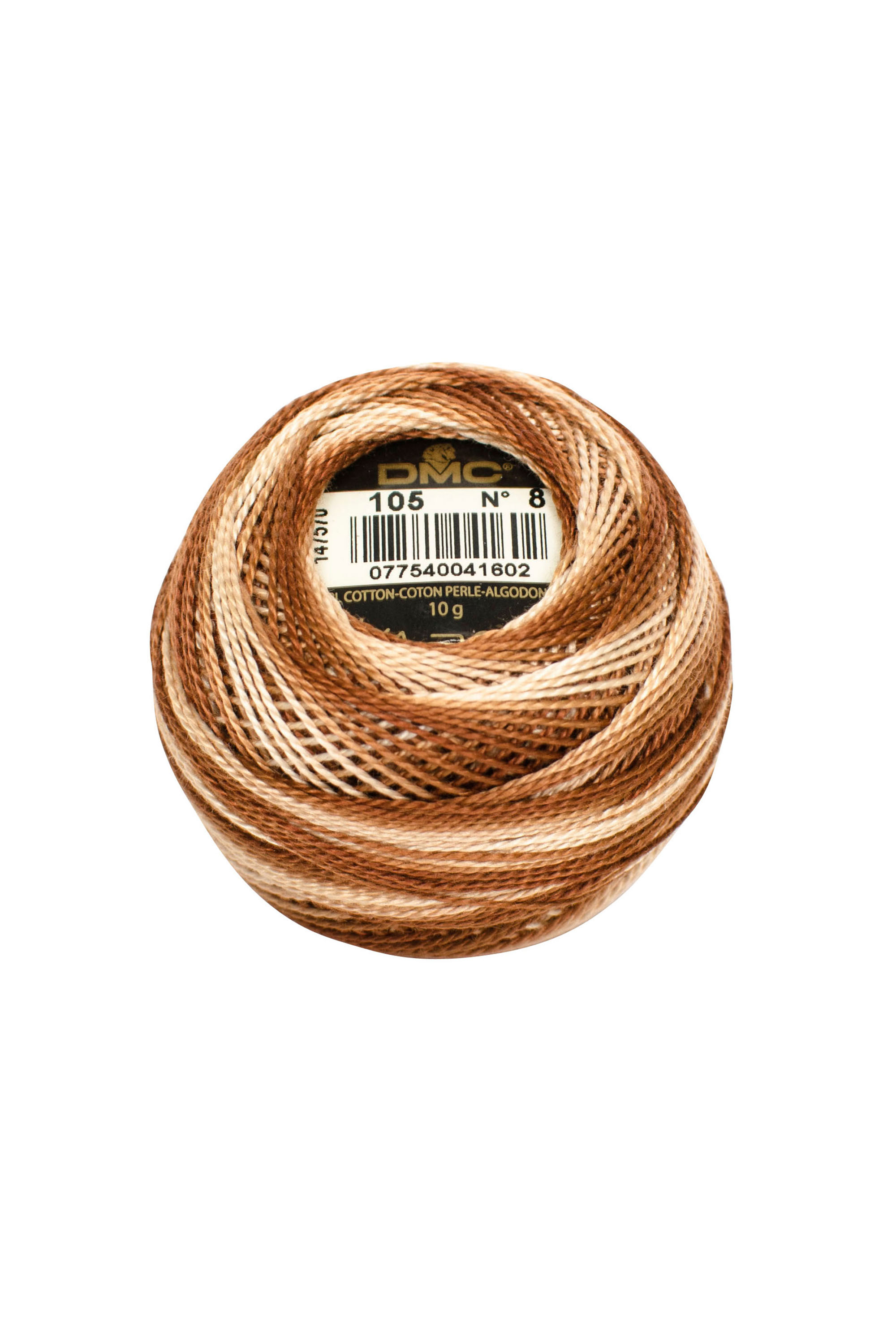 Variegated Brown Perle 8 Embroidery Thread DMC8-105 - Colour Mix Pearl Cotton