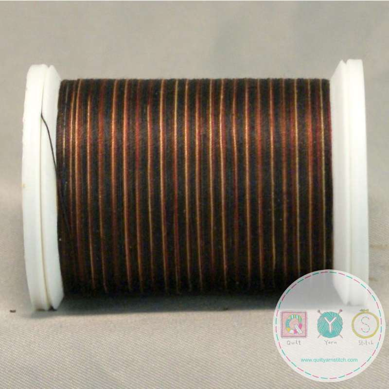 YLI Machine Quilting Cotton Thread - Earth 244-50-13V - Variegated Deep Red and Brown Mix Thread