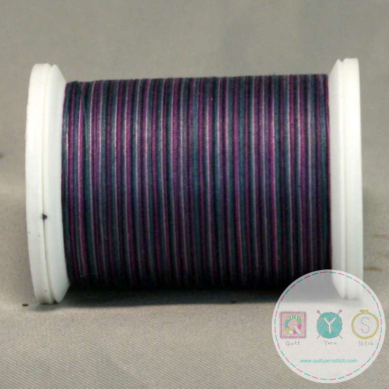YLI Machine Quilting Cotton Thread - Vineyard 244-50-15V - Variegated Purple Mix - Sewing Thread
