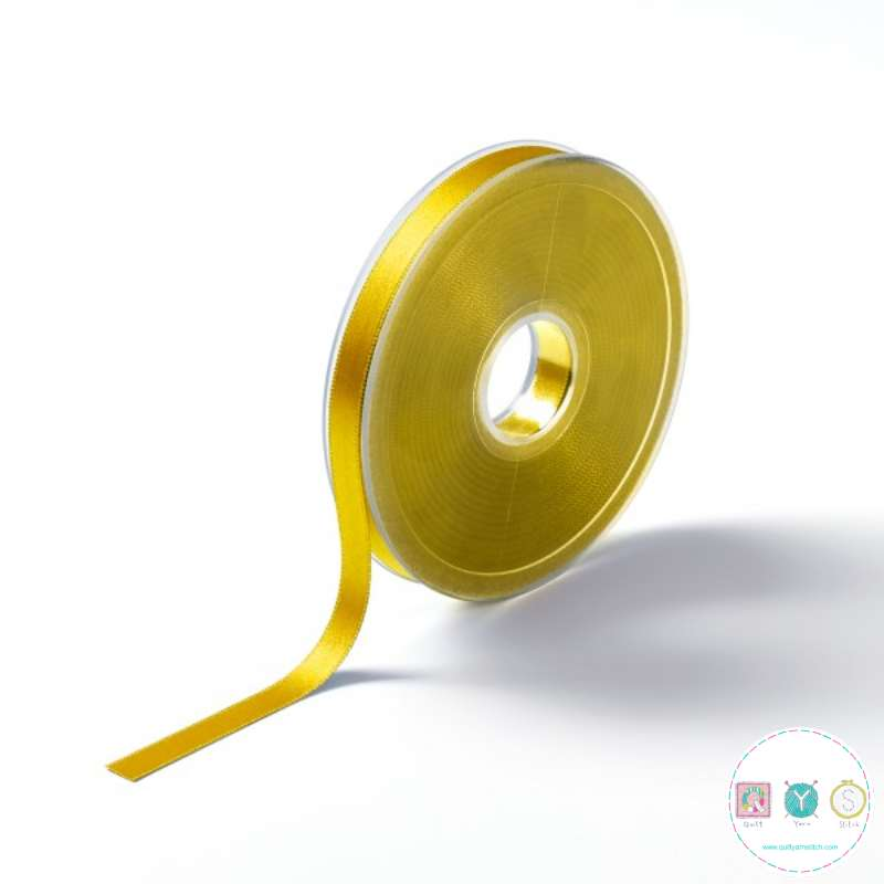 Sunny Yellow Satin Ribbon - 16mm - Double Sided - Trim - Haberdashery