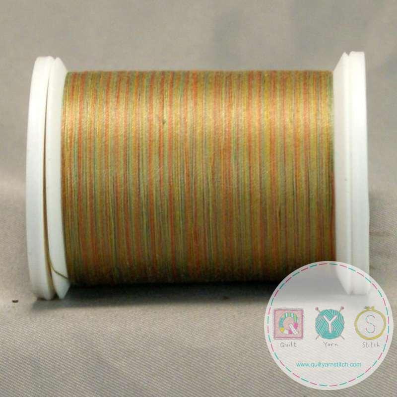 YLI Machine Quilting Cotton - Dusk Thread 17V - Variegated Green Gold Mix