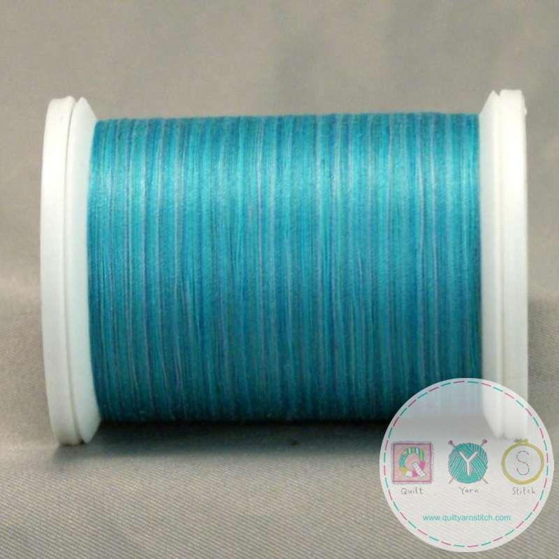 YLI Machine Quilting Cotton - Sea-Mist 244-50-18V - Variegated Blue Mix Thread