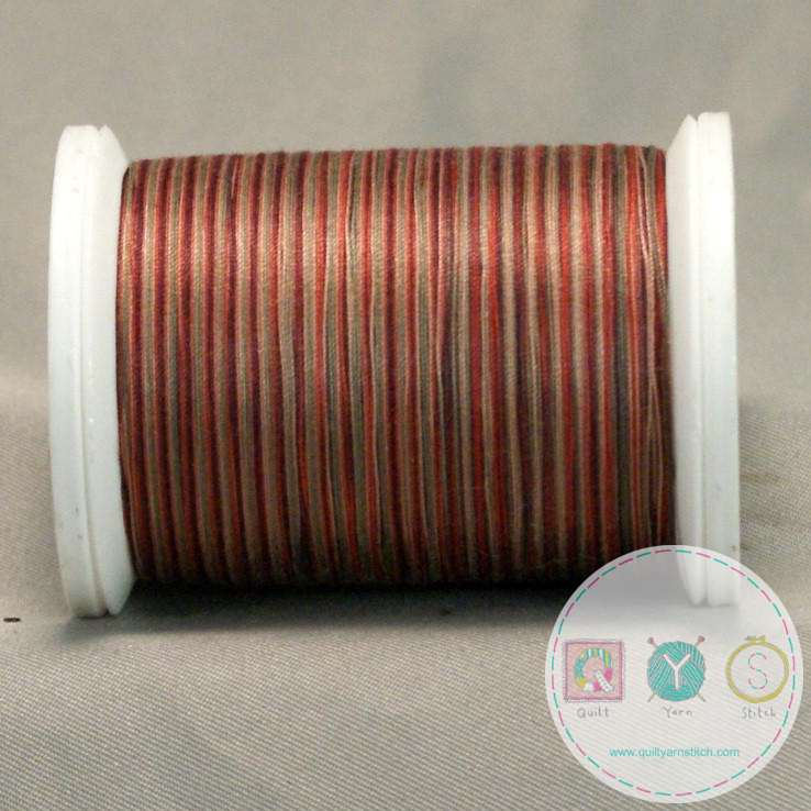 YLI Machine Quilting Cotton Thread - Harvest 19V - Variegated Red Mix Thread