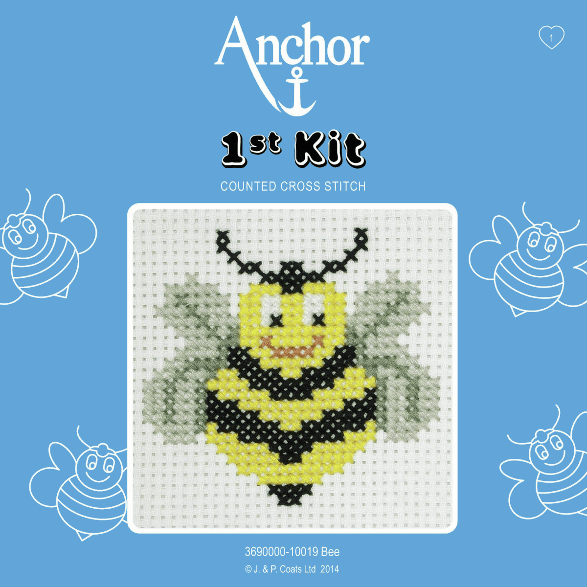 1st Cross Stitch Kit by Anchor - Bee