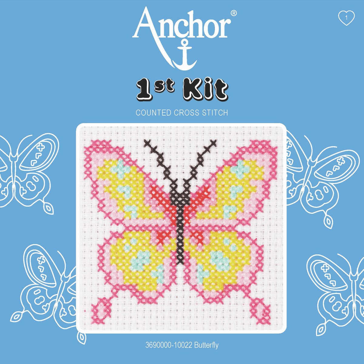 1st Cross Stitch Kit by Anchor - Butterfly