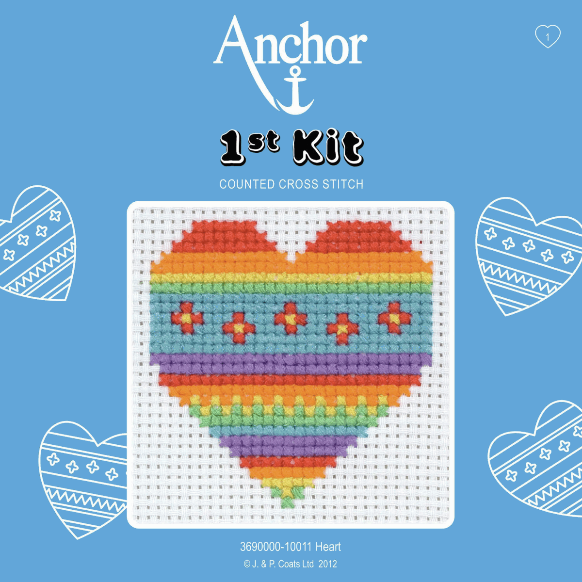 1st Cross Stitch Kit by Anchor - Heart