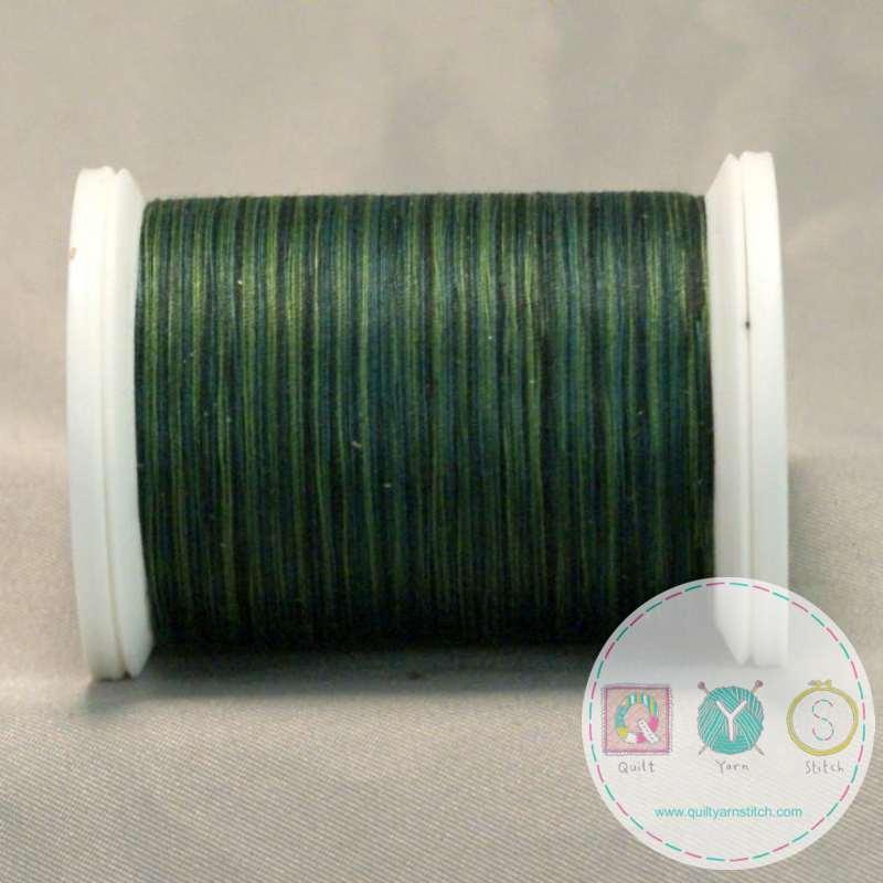 YLI Machine Quilting Cotton Thread - Forest 244-50-24V - Variegated Green Thread