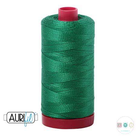 Aurifil Green Thread - 2870 - 12/2 - 12wt - Quilting Cotton Thread