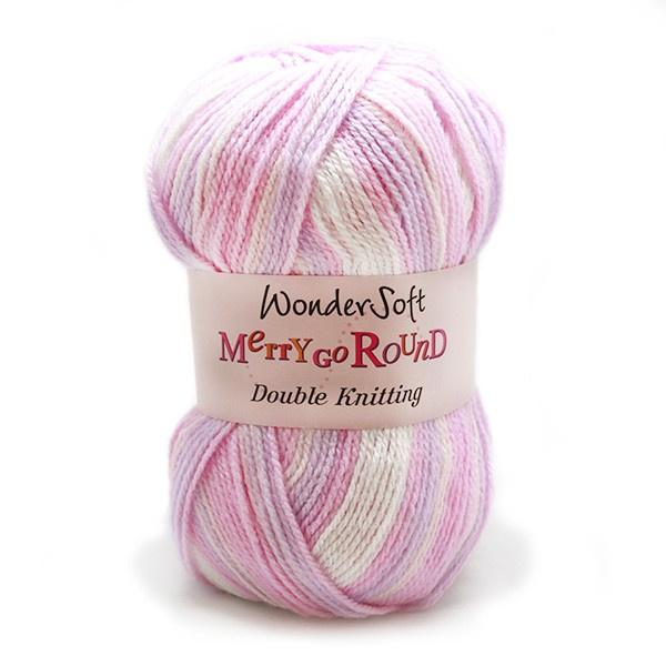 Stylecraft Wondersoft Yarn - Merry Go Round - DK Wool - Pink and Lilac 3119