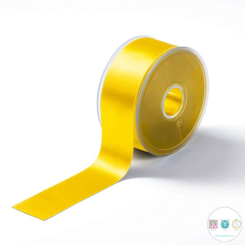 Sunny Yellow Satin Ribbon - 38mm - Trimming - Embellishments - Haberdashery