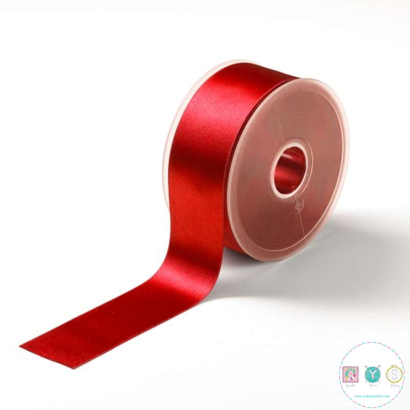 Red Satin Ribbon - 38mm - Trimming - Embellishments - Haberdashery