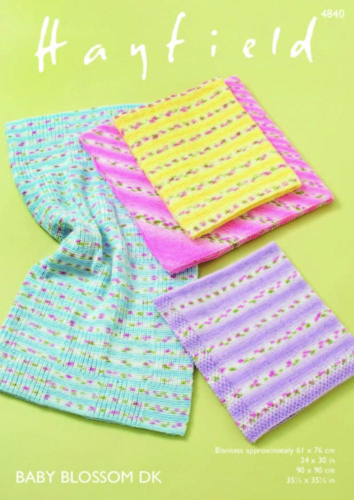 Blankets in Hayfield Baby Blossom DK - 4840 - Knitting Pattern