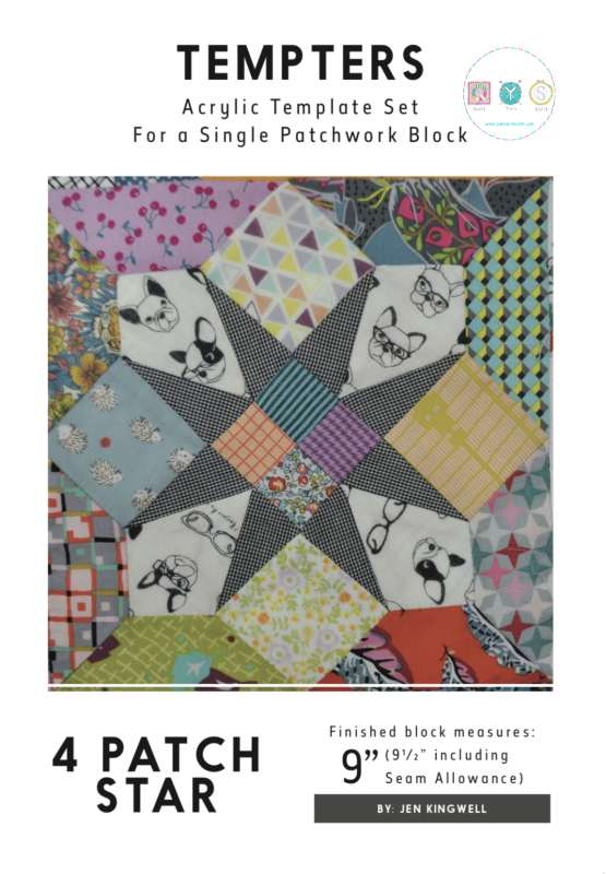 Jen Kingwell Designs Tempters - 4 Patch Star - 9