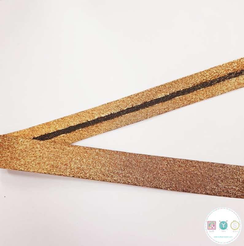 18mm Gold Lame Bias Tape - by Byetsa - Trim - Haberdashery
