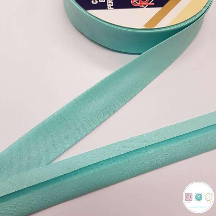 Turquoise Blue Polycotton Bias - 25mm - Bias Tape - Binding - Trim - Haberdashery