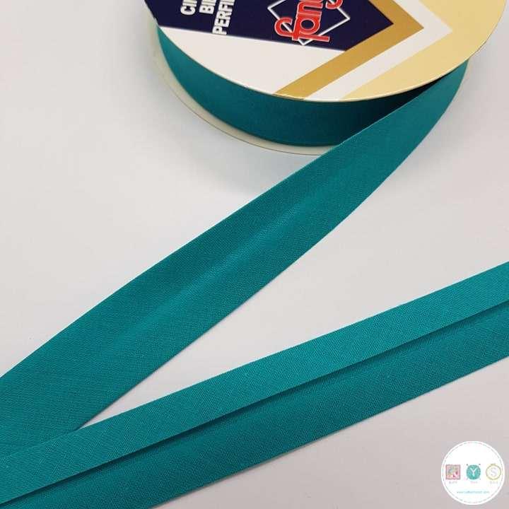Jade Green Polycotton Bias - 25mm - Bias Tape - Binding - Trim - Haberdashery