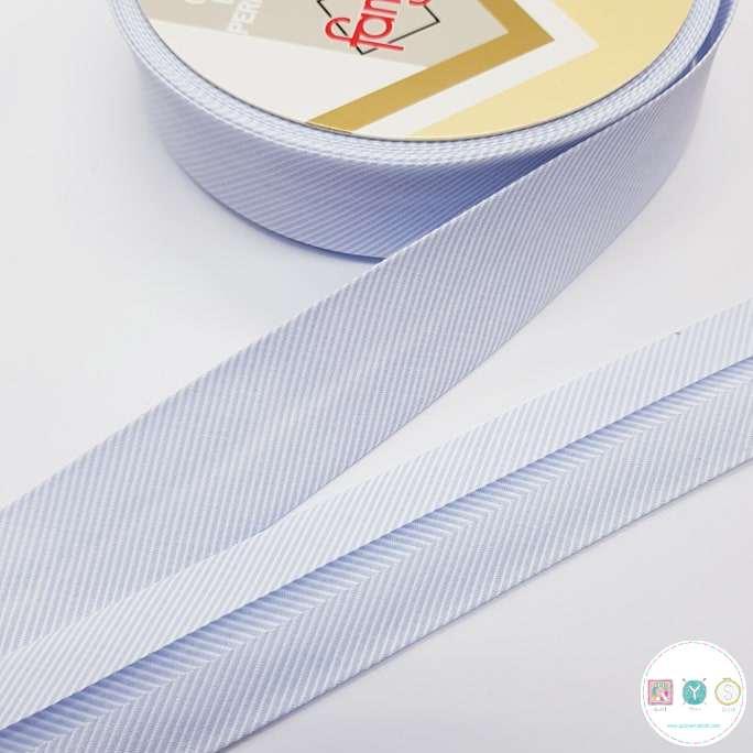 Baby Blue Stripe - Bias Tape - Binding - Trim - Haberdashery