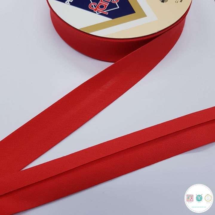 Red Polycotton Bias - 25mm - Fany Bias Tape - Binding - Trim - Haberdashery