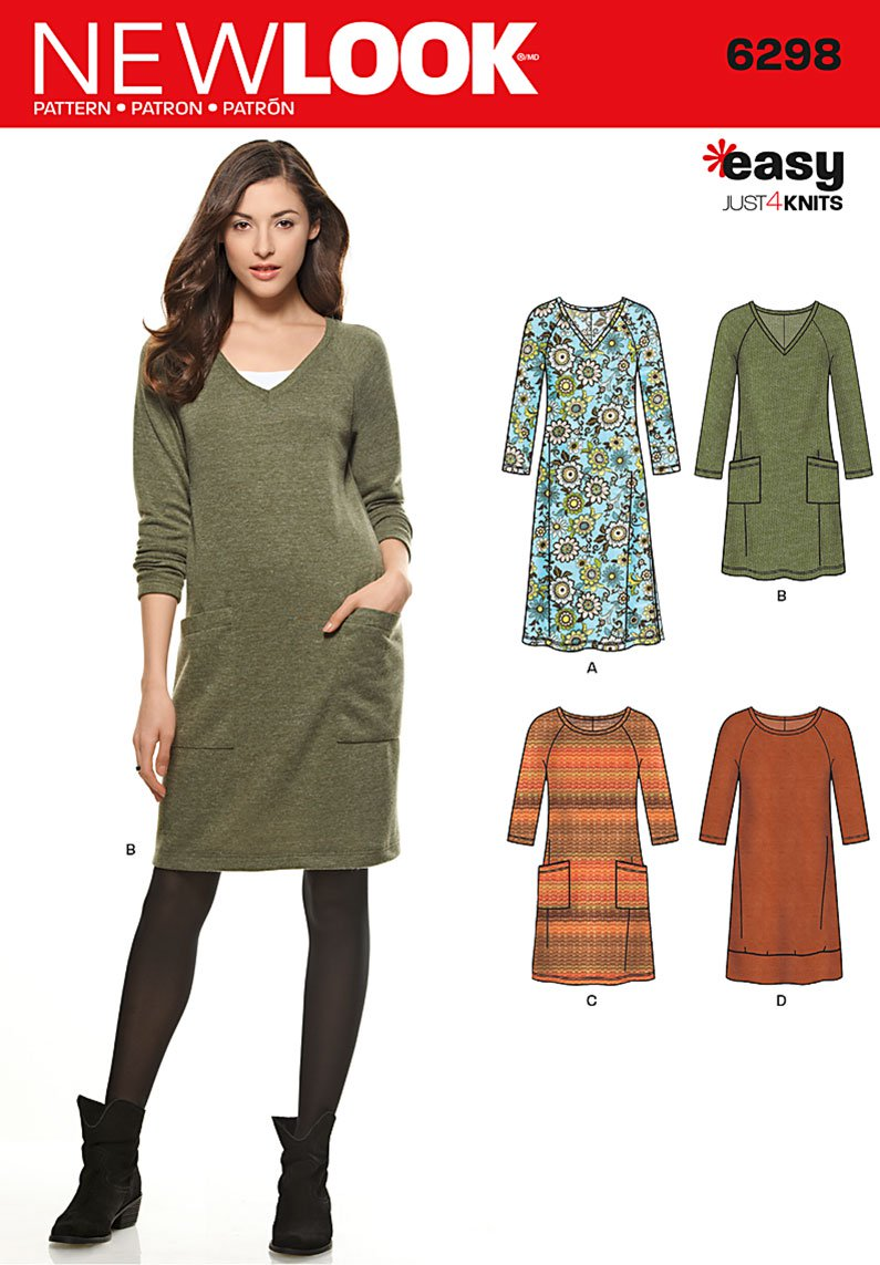 New Look 6298 - Easy Knit Tunic Dress - The Quilt Shop