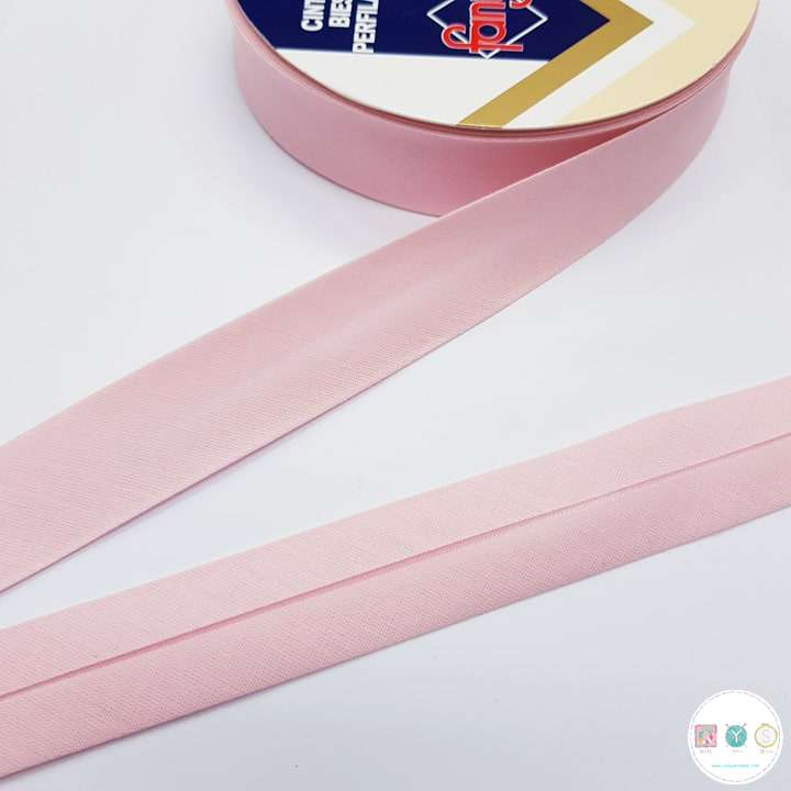 Baby Pink Polycotton Bias - 25mm - Fany Bias Tape - Binding - Trim - Haberdashery