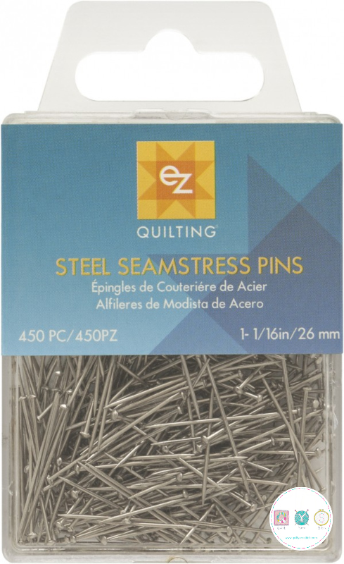 Ez Quilting - Steel Seamstress Pins - Pack of 450 - 26mm - Sewing Pins