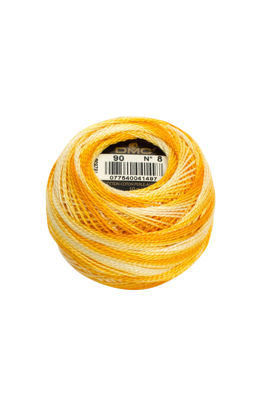 Variegated Yellow/Orange Perle 8 Embroidery Thread DMC8-90 - Pearl Cotton
