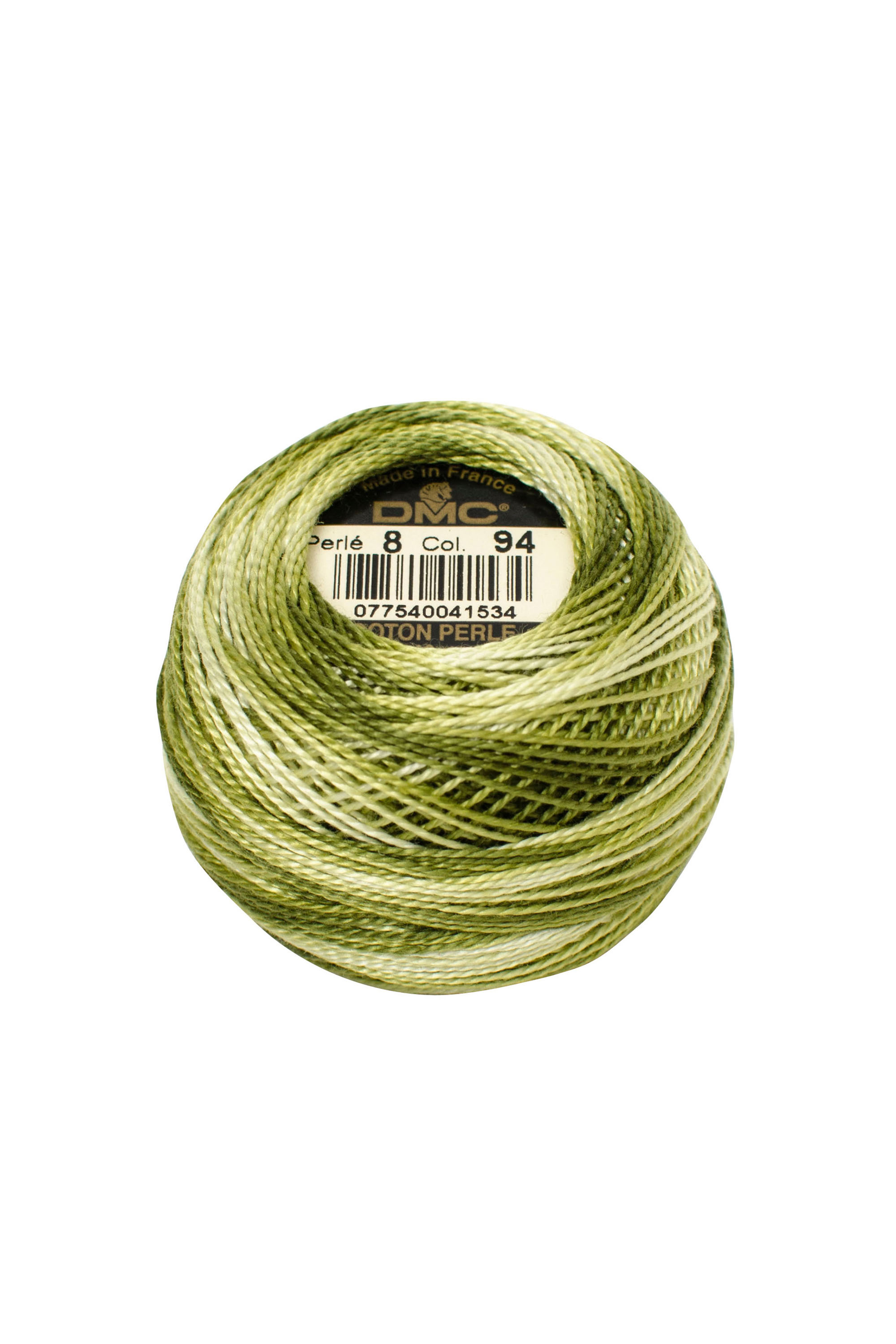 Variegated Green Perle 8 Embroidery Thread DMC8-94 - Colour Mix Pearl Cotton