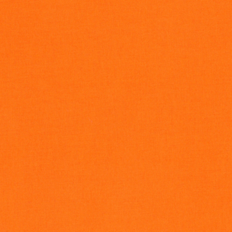 Robert Kaufman Kona Cotton Fabric - Plain Orange Solid 1265 for Patchwork & Quilting
