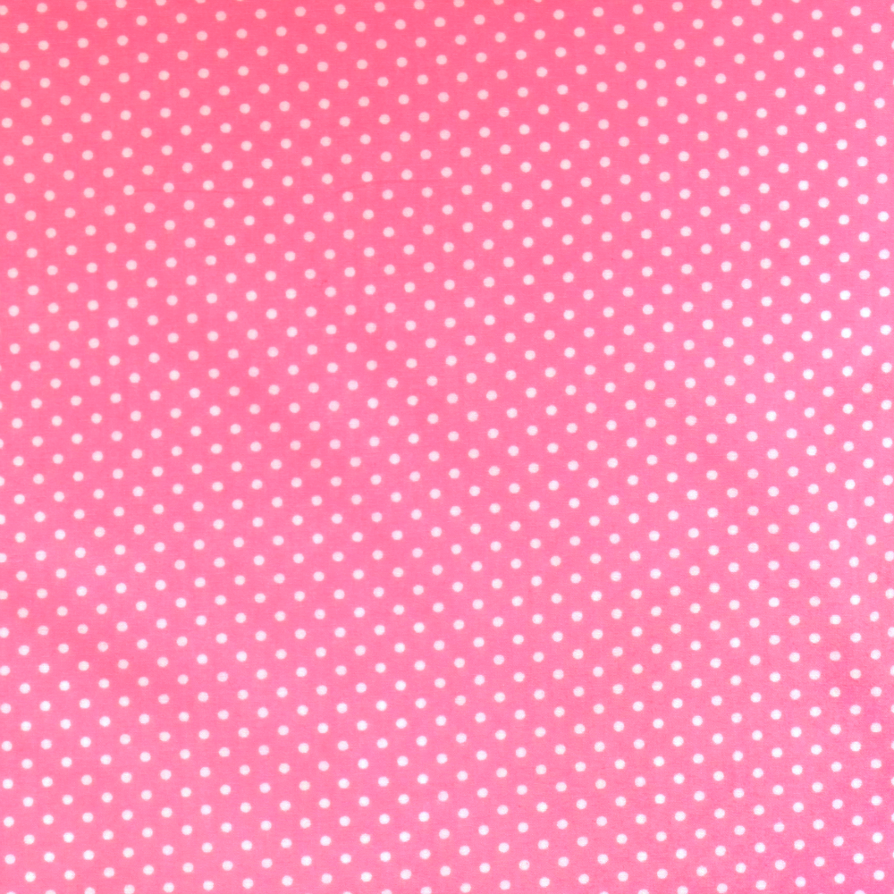 Mid Pink Polka Dots - Spots - Cotton Poplin Fabric - by Rose & Hubble
