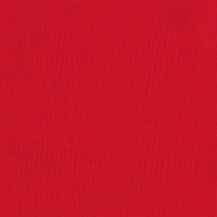 Robert Kaufman Kona Cotton Fabric - Plain Red Solid 1308 for Patchwork & Quilting