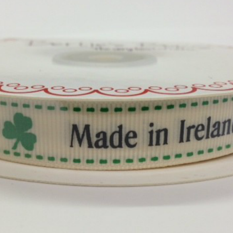 16mm Made In Ireland Ribbon. Price per yard.