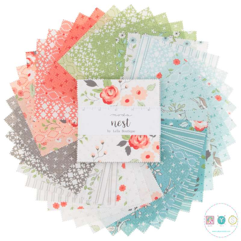 Nest 5 inch Floral Charm Pack by Lella Boutique for Moda Fabric