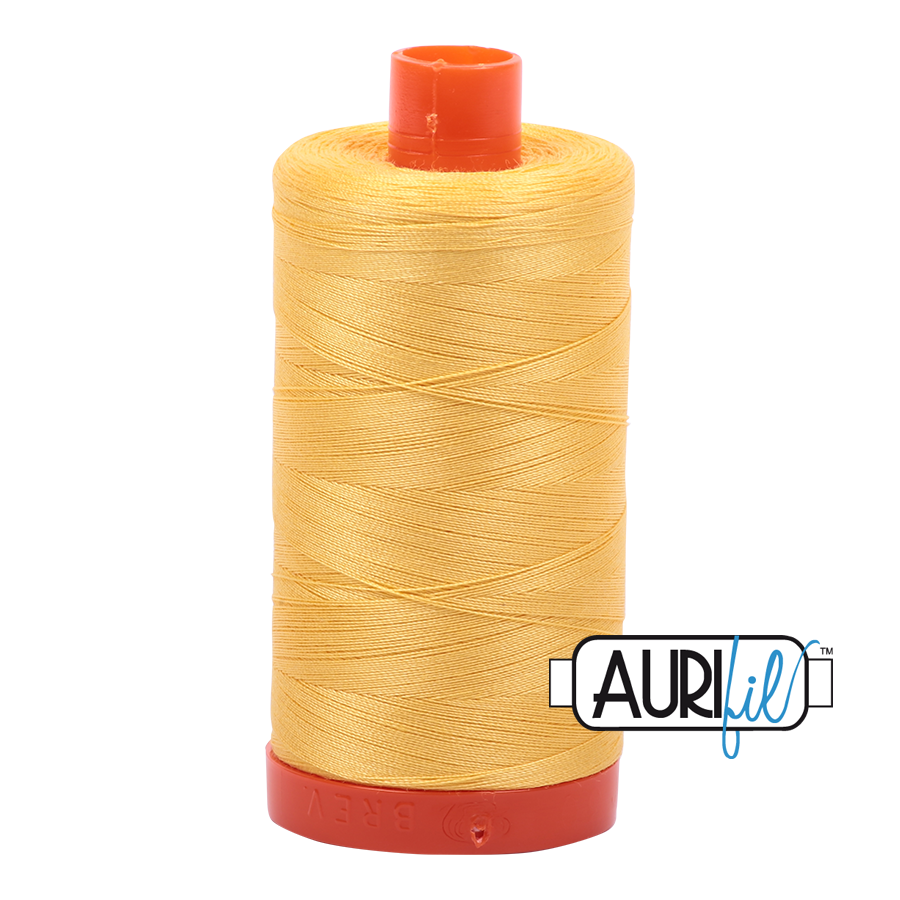 Aurifil Pale Yellow Thread A1135 - 50wt - Quilting Cotton Thread