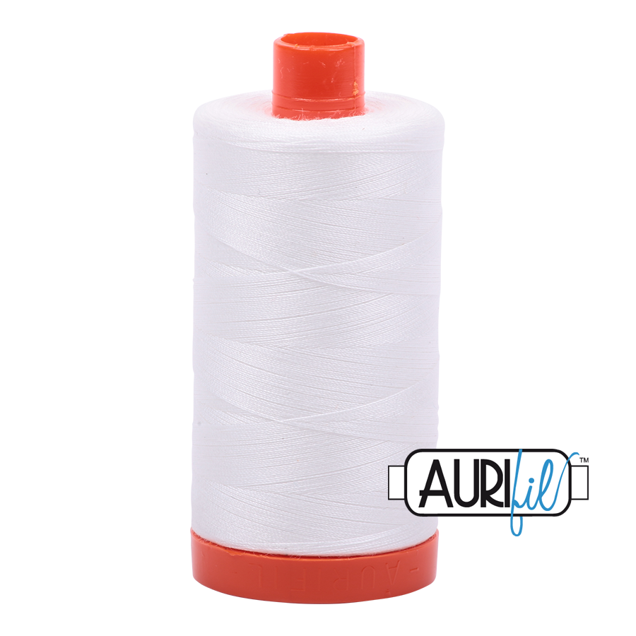 Aurifil Natural White A2021  - 50wt - Quilting Cotton Thread