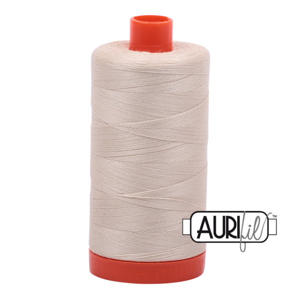Aurifil Light Beige Cream Thread - 2310 - 12/2 - 12wt - Quilting Cotton Thread